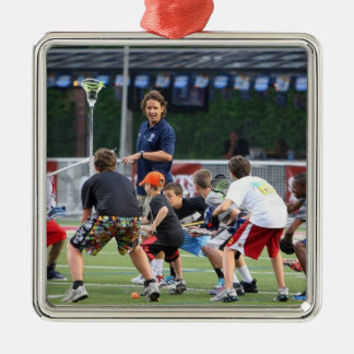 CAMBRIDGE, MA - JULY 08:  Major League Lacrosse Christmas Ornament