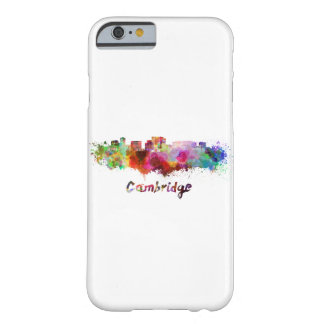 Cambridge MA skyline in watercolor Barely There iPhone 6 Case