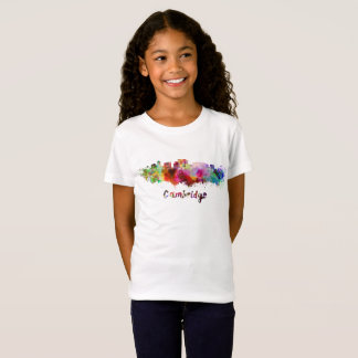 Cambridge MA skyline in watercolor T-Shirt