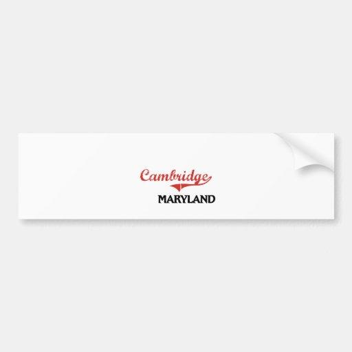 Cambridge Maryland City Classic Car Bumper Sticker