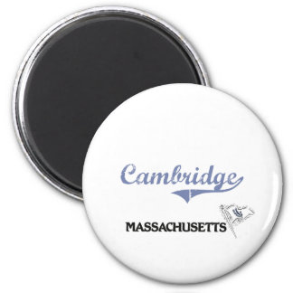 Cambridge Massachusetts City Classic Magnet