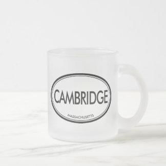 Cambridge, Massachusetts Frosted Glass Coffee Mug