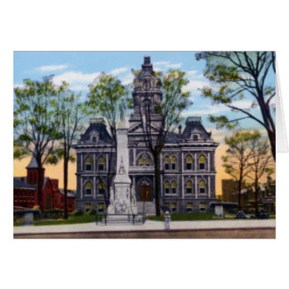 Cambridge Ohio Courthouse for Guernsey County Greeting Card