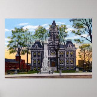 Cambridge Ohio Guernsey County Courthouse Poster