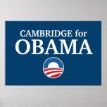CAMBRIDGE para el personalizado de Obama su ciudad Poster