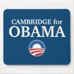 CAMBRIDGE para el personalizado de Obama su ciudad Alfombrillas De Ratón