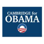 CAMBRIDGE para el personalizado de Obama su ciudad Postal