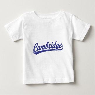 Cambridge script logo in blue baby T-Shirt