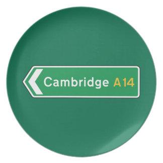 Cambridge señal de tráfico BRITÁNICA Plato
