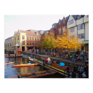 Cambridge. View from Magdalene Bridge. Photoprint Photo Print