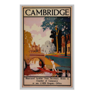 Cambridge Vintage Poster