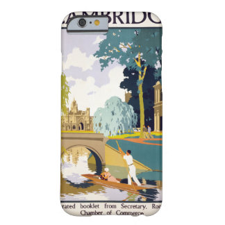 Cambridge Vintage Travel Poster Restored Barely There iPhone 6 Case