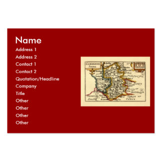 Cambridgeshire County Map, England Large Business Cards (Pack Of 100)