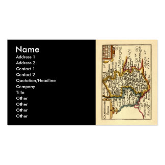 Cambridgeshire County Map, England Double-Sided Standard Business Cards (Pack Of 100)