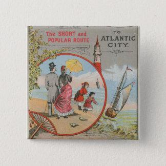 Camden and Atlantic Railroad Button