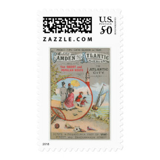 Camden and Atlantic Railroad Postage Stamps