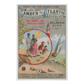 Camden and Atlantic Railroad Poster