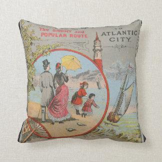 Camden and Atlantic Railroad Throw Pillow