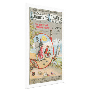 Camden and Atlantic Railroad Wrapped Canvas Print