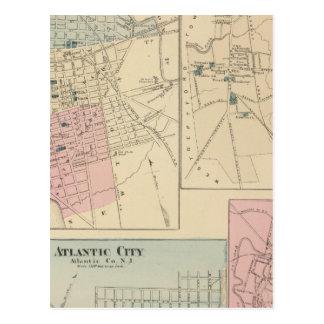 Camden, Atlantic City, Woodbury, acebo del Mt Postales