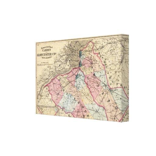 Camden, Gloucester counties, NJ Canvas Print