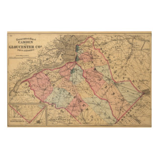 Camden, Gloucester counties, NJ Wood Wall Decor