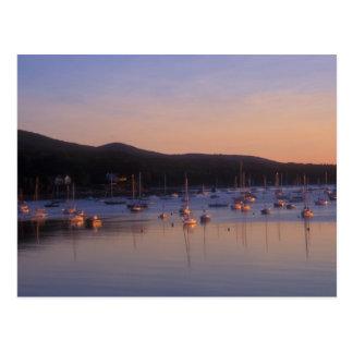 Camden Harbor Sunrise Postcard