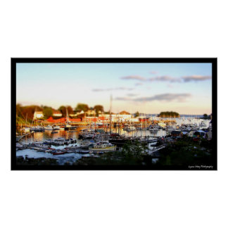 Camden Harbor-tiltshift Poster