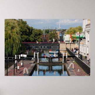 Camden Lock on Regents Canal London England Print