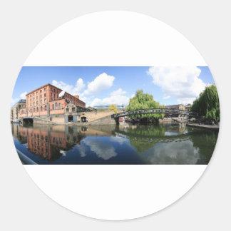 Camden Lock Panorama Classic Round Sticker