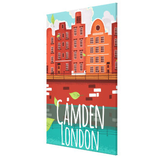 Camden, London vintage travel poster Canvas Print