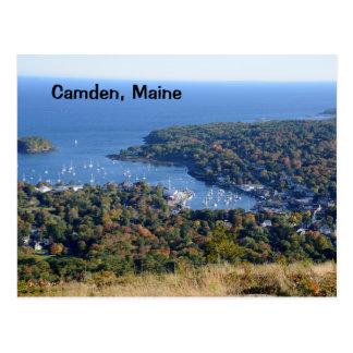 Camden, Maine harbor Postcard
