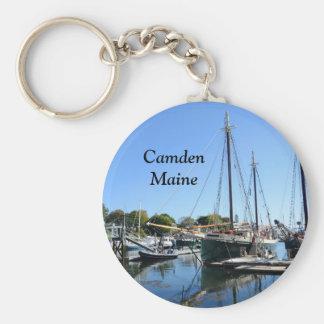 Camden, Maine Llavero Redondo Tipo Pin