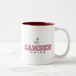 Camden, ME-Anchor Two-Tone Coffee Mug