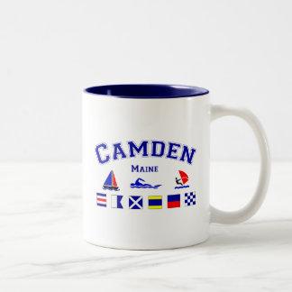 Camden, ME Two-Tone Coffee Mug