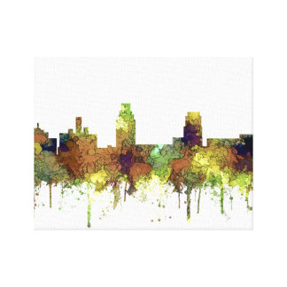 Camden New Jersey Skyline SG Safari Buff Canvas Print