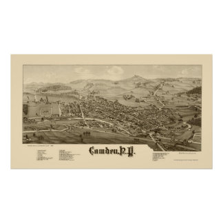 Camden, NY Panoramic Map - 1885 Poster