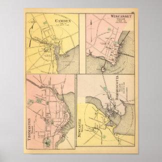Camden, Wiscasset, Damariscotta, Posters