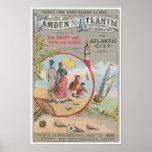 Camden y poster atlántico del ferrocarril