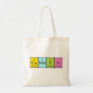 Camdyn periodic table name tote bag