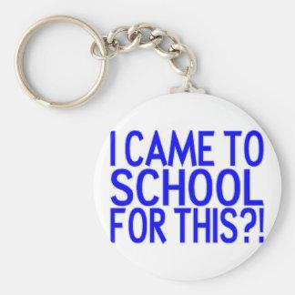 Came To School Basic Round Button Keychain
