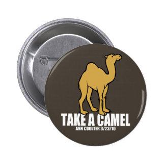 Camel 2 Inch Round Button