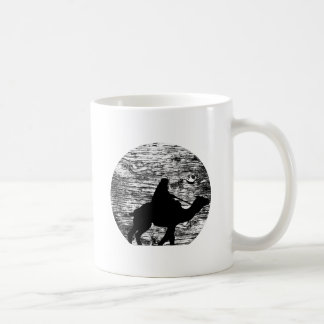 Camel and Bedouin with Moon in Background Classic White Coffee Mug