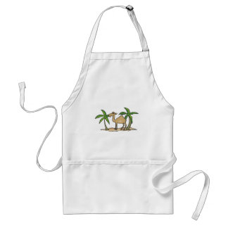 camel and palm trees aprons