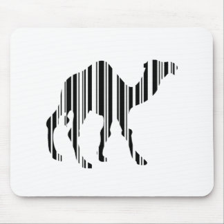 Camel Bar Code Pattern Mouse Pad