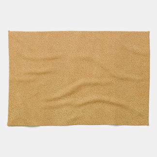 Camel Brown Ultrasuede Look Towels