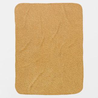 Camel Brown Ultrasuede Look Stroller Blanket