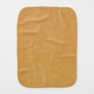 Camel Brown Ultrasuede Look Burp Cloth