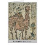Camel by Utagawa, Kuniyasu Ukiyoe Card