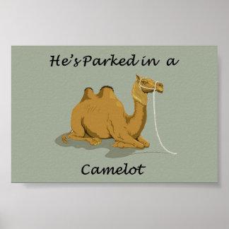 Camel Camelot Humor Poster